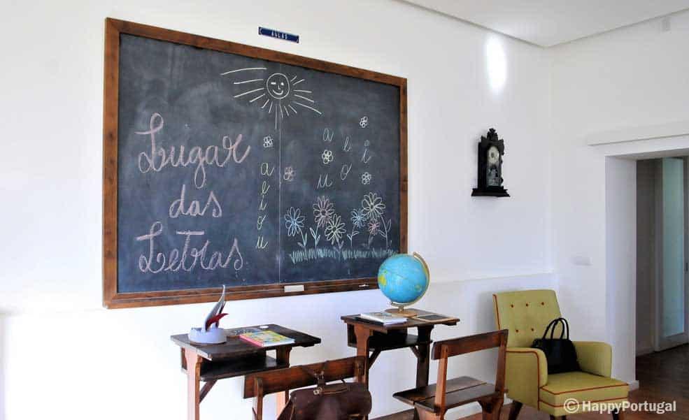 Lugar das letras, uma escola para descansar