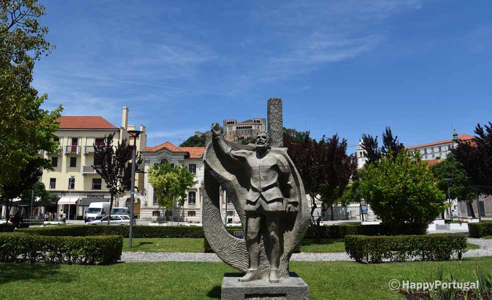 The Castle of Leriria always present in the Esplanade of the Garden in Leiria